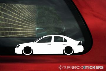 2x LOW Ford Mondeo mk3 st220 , zetec 4-DOOR ,Silhouette  outline stickers, Decals